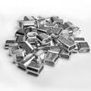 Krymperinge af aluminium til  festival stofarmbånd