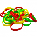 Silikonearmbånd i  farver