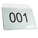 Startnumre på lager pakket i PP taske