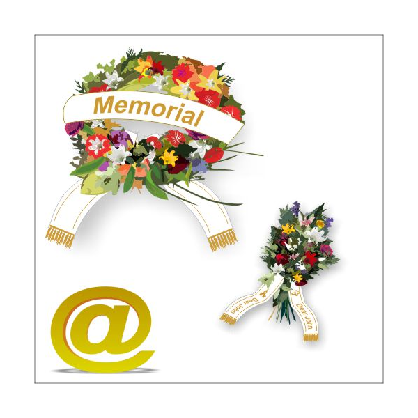 Bouquet ribbons print Via eMail