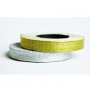 Båndruller i metal sølv og metallisk guld til tekstilarmbånd