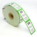 Rullebilletter med tryk af logo og tekst