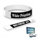 Papir armbånd hvidt tryk Design selv