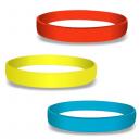 Blanke silikonearmbånd i farver på lager