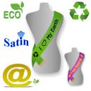 Design online ECO satin ordensbånd med tryk