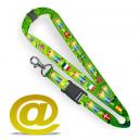 Keyhanger med sublimations print i fuld farve