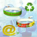 Festival stofarmbånd lavet af genanvendt PET polyester