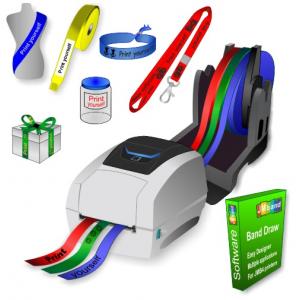 JMB4+ termisk printer, der udskriver på ruller af papirbånd, polyesterbånd og polyprotexbånd