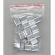 Aluminium krymperinge i en PP gennemsigtig lomme