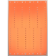 Plastikbånd i ark  i orange