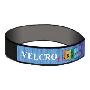 Velcro® armbånd med vævet strimmel på toppen