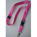 Pink nøglesnor uden tryk
