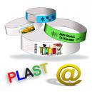 Plast armbånd H send dit design