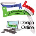 Design online plastikarmbånd med logo og tekst
