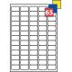 Trykte klistermærker på A4 ark,  i alt 65 klistermærker