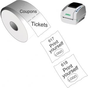 Udskriv selv adgangsbilletter og kuponer med JMB4 termisk direkte printer