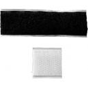Adhesive velcro låse til fastgørelse af brede bånd på en ramme