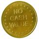 Metal poletter og metal mønter på lager