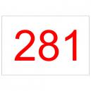Lager løbenumre og konkurrencenumre i rødt