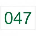 Startnumre og konkurrencenumre i grøn