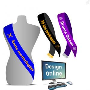 Design online ordensbånd med tryk