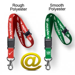 Skræddersyede keyhangers med trykt logo og tekst