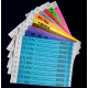 Trykte festivalarmbånd i forskellige farver