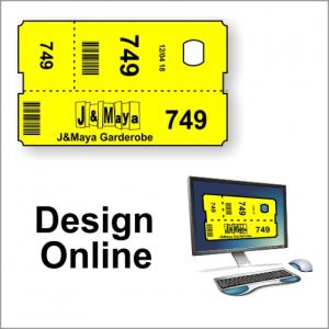 Garderobebilletter - design online