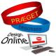 Design online silikonearmbånd med din tekst og logo