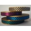 Fancy båndrulle i metal farver i skaktern til tekstilarmbånd