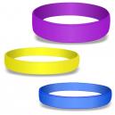 Blanke silikonearmbånd i farver