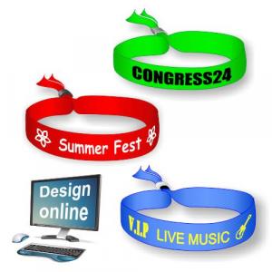 Design online dine egne festival tekstilarmbånd