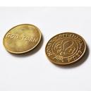 Messing poletter og messing mønter
