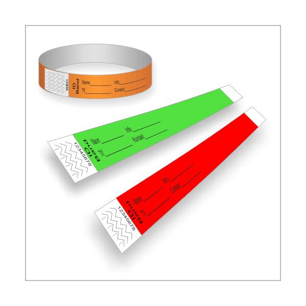 Papirarmbånd med tryk til ID
