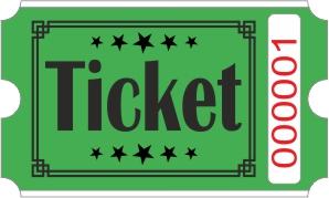 Ticket billetter - Grøn