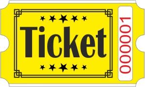 Ticket billetter - Gul