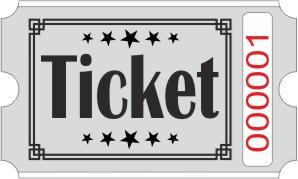 Ticket billetter - Grå