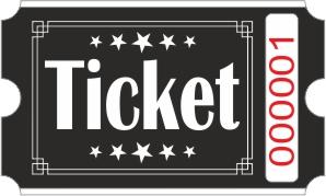 Ticket billetter - Sort