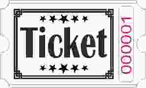Ticket billetter - Hvid