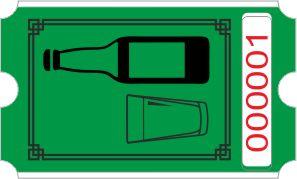 Flaske rulle - grøn